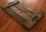 Flat Walnut Stained Serving Tray