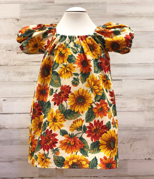 Sunflower Peasant dress