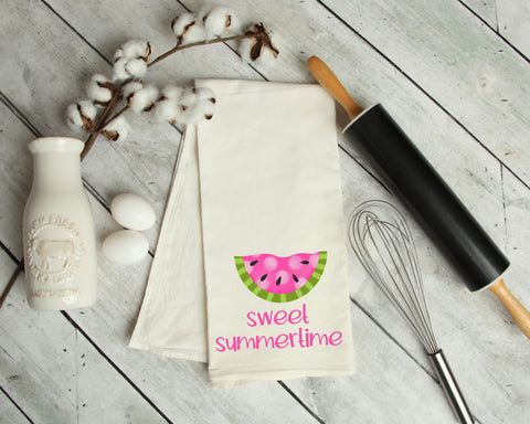 Sweet Summertime Watermelon Kitchen Towel
