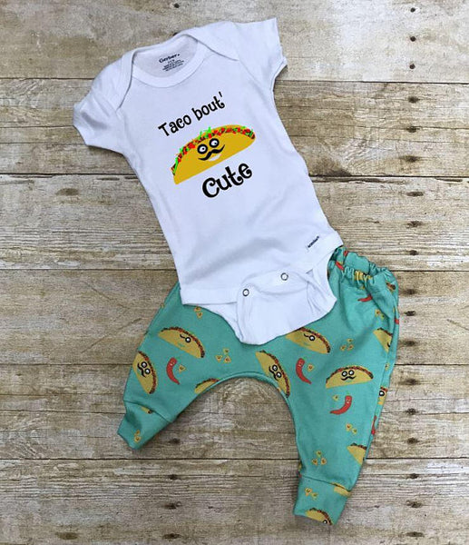 Taco Bout' CUTE pants and ONESIE ® or t shirt outfit