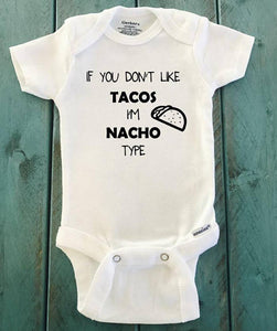 If you don't like Tacos I'm Nacho type pants and bodysuit or T-shirt outfit