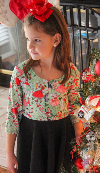 Vintage Christmas Twirl Dress