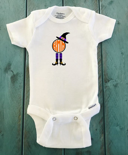 Witch Monogram ONESIE ® brand Gerber