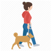 dog walker icon
