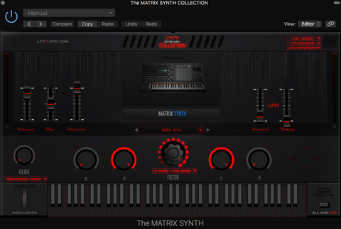 The Matrix SYNTH sampler rompler Brute Arturia analog synthesizer