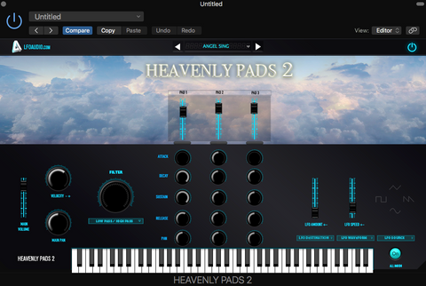 HEAVENLY PADS VST Plug-in samples sounds synth Apple LOGIC PRO X AU audiounit