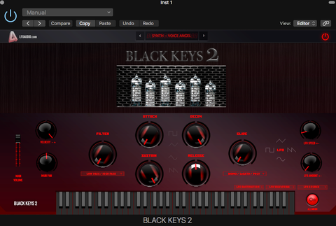 Black Keys 2 VST Plug-in AU synth Synthesizer Vintage sounds samples Rompler
