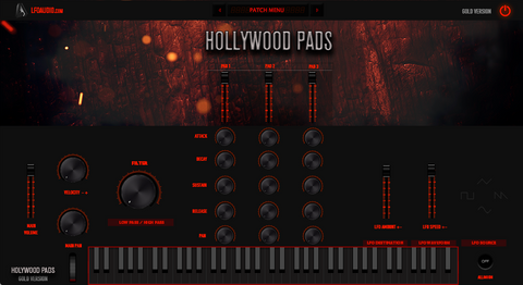 Hollywood Pads VST AU Plug-in strings movie atmospheric motion synth synthesizer