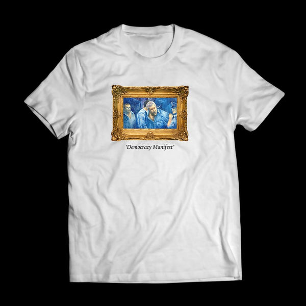 Mr. Democracy Manifest Tee (White)