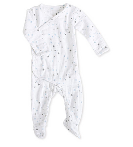 Long sleeve kimono one-piece sleepsuit