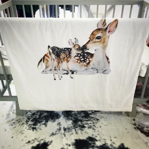 All Season Cot Quilt 'The Deer'