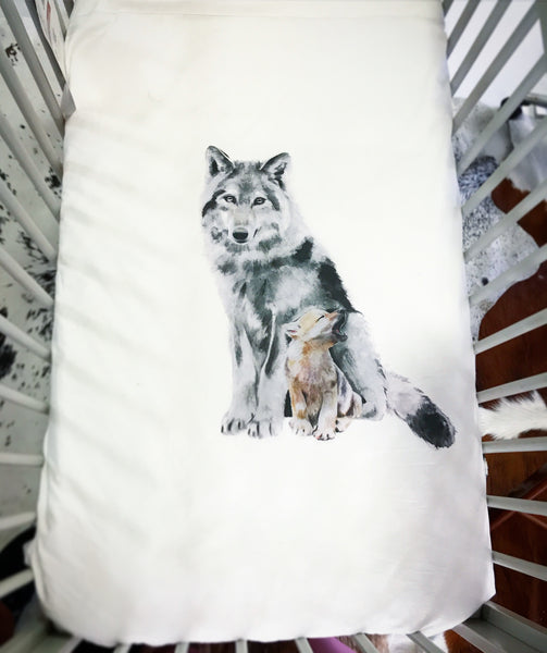 All Season Cot Quilt 'The Wolf'