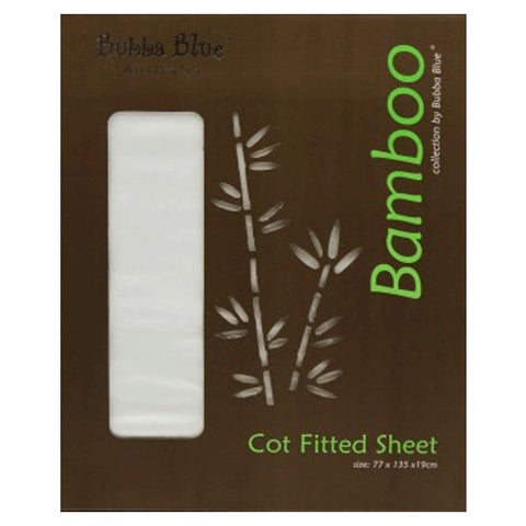 Bamboo Cot Fitted Sheet WHITE