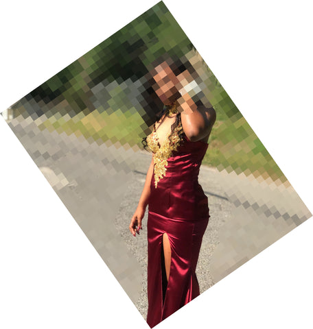 Chic Burgundy Prom Dresses Trumpet/Mermaid Appliques Sexy Prom Dress/Evening Dress JKS175