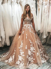 Gorgeous Off the Shoulder Lace Appliques Ball Gown with Train JKG030