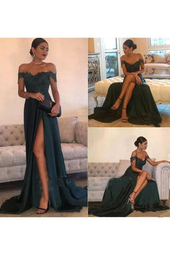 Beautiful Prom Dresses Lavender Off-the-shoulder Long Chic Prom Dress/Evening Dress