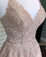 Dusty Blush Tulle Spaghetti Straps V-Neck A-Line Cute Homecoming Dress AN8804|Annapromdress