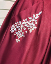 Sexy V-Neck Burgundy Satin Cute Homecoming Dress with Pockets AN8801|Annapromdress