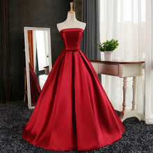 Cheap Red Prom Dress Ball Gown Sweep/Brush Train Strapless Prom Dress/Evening Dress JKS120