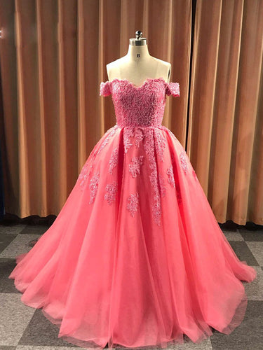 Ball Gown Cap Sleeve Lace Appliques Prom Dress 2019 Ivory Sweetheart Wedding Dress SMT07214|Annapromdress