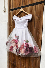 White Off-the-Shoulder Short Prom Dress Cute Homecoming Dress JKT303