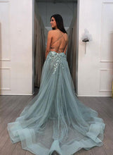 Trumpet/Mermaid Spaghetti Straps Long Prom Dress Open Back Elegant Formal Dress JKP401