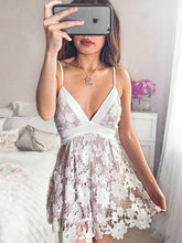 Exquisite Lace Sexy Spaghetti Straps V-Neck Short Homecoming Dress AN1304}Exquisite Lace Sexy Spaghetti Straps V-Neck Short Homecoming Dress AN1304|Annapromdress