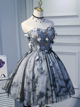 Ball Gown Strapless Beautiful Flower Cute Homecoming Dress Beaded Short Prom/Party Dress ATB1816|Annapromdress