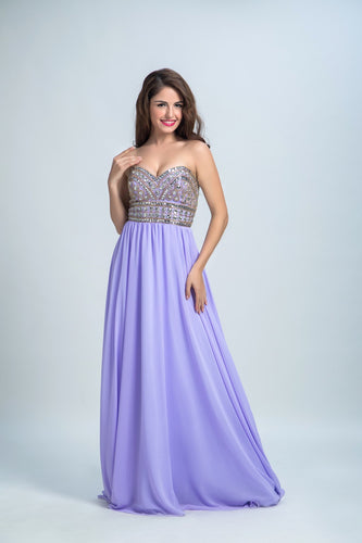 Cheap Prom Dresses A-line Sweetheart Floor-length Chiffon Prom Dress/Evening Dress AMY014