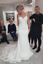 Chic Spaghetti Straps Sweetheart Mermaid Lace Wedding Dress JKM314|Annapromdress