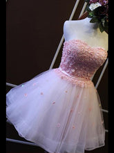 2017 Homecoming Dress Sexy Pink Strapless Short Prom Dress Party Dress JK026