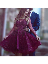 2017 Homecoming Dress Bateau Appliques Long Sleeve Short Prom Dress Party Dress JK051