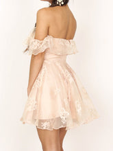 2017 Homecoming Dress Off-the-shoulder Pearl Pink Short Prom Dress Party Dress JK052