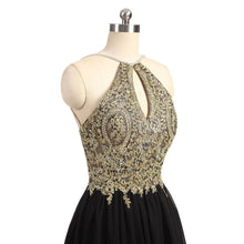 Little Black Dress Halter Homecoming Dress Chiffon Short Prom Dress Party Dress JK055