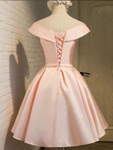 2017 Homecoming Dress Lace-up Pink Bowknot Short Prom Dress Party Dress JK056|Annapromdress