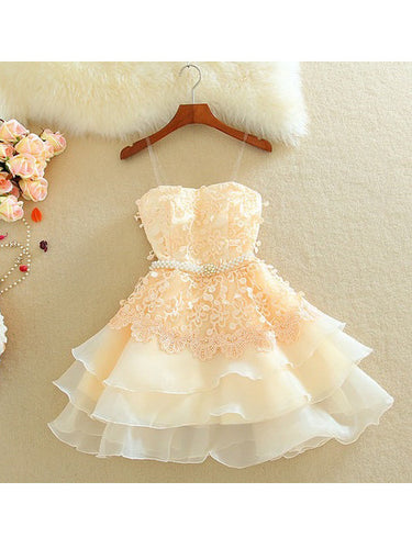 2017 Homecoming Dress Beading Flouncing Short Prom Dress Party Dress JK066