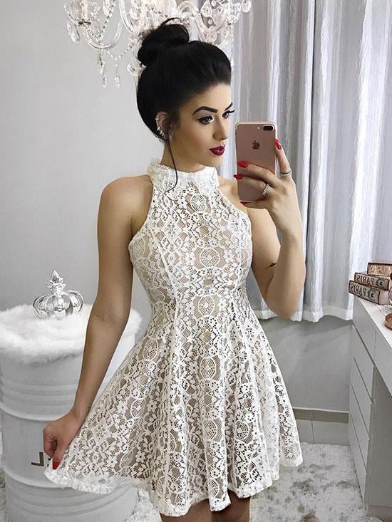 High Neck Party Dresses