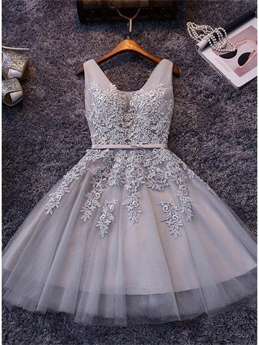 2017 Homecoming Dress Sexy A-line V-neck Short Prom Dress Party Dress JK071