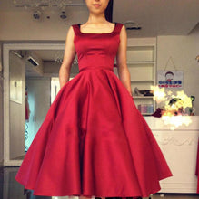 2017 Homecoming Dress Satin Burgundy Bowknot Short Prom Dress Party Dress JK106