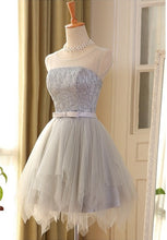 2017 Homecoming Dress Silver Bowknot Lace-up Short Prom Dress Party Dress JK119