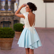 2017 Homecoming Dress Backless Sexy Short Prom Dress Party Dress JK126