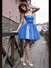 2017 Homecoming Dress Royal Blue Lace Short Prom Dress Party Dress JK127