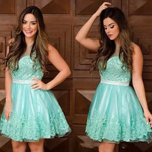 2017 Homecoming Dress Sage Appliques Short Prom Dress Party Dress JK128