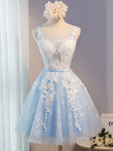 2017 Homecoming Dress White Appliques Short Prom Dress Party Dress JK136