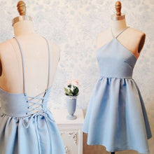 2017 Homecoming Dress Sexy Halter Lace-up Short Prom Dress Party Dress JK147