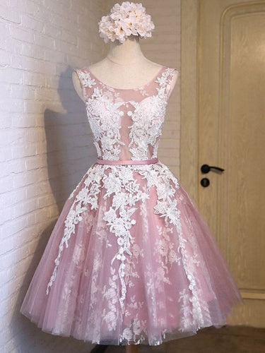 2017 Homecoming Dress Lilac Lace-up Sexy Short Prom Dress Party Dress JK150