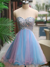 2017 Homecoming Dress Blue Sweetheart Sexy Short Prom Dress Party Dress JK151