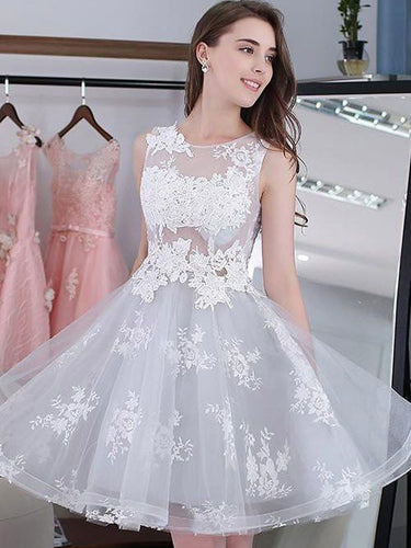 2017 Homecoming Dress Lace-up Silver Sexy Short Prom Dress Party Dress JK167