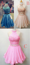 2017 Homecoming Dress Two Pieces Sexy Short Prom Dress Party Dress JK171