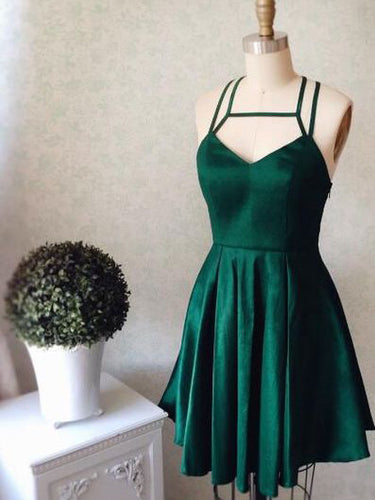 2017 Homecoming Dress Sexy Halter Dark Green Short Prom Dress Party Dress JK177